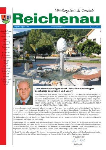 Gemeindezeitung August 2008 - in der Gemeinde Reichenau