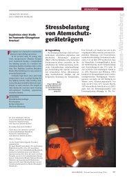 Stressbelastungen von Atemschutzgeräteträgern - Unfallkasse ...