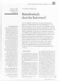 Kundennah durchs Internet? - Universität Leipzig
