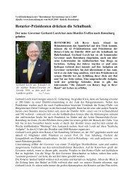 Veröffentlichung in der Rotenburger Kreiszeitung vom 6 - Distrikt 1850