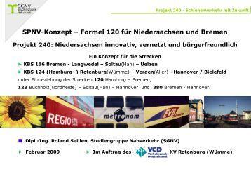 SPNV-Konzept – Formel 120 für Niedersachsen und Bremen - VCD