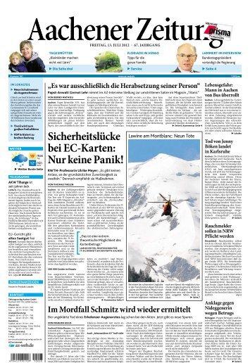 Aachener Zeitung - Redeker Sellner Dahs