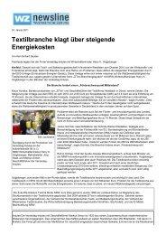 Westdeutsche Zeitung, 24. Januar 2011 - ZiTex