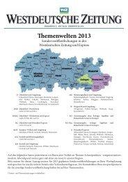 Sonderthemen 2013 (PDF / 1,22 MB) - Westdeutsche Zeitung