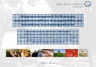 Akzeptanzmanagement für Bioenergie - Nachhaltige Nutzung von ...