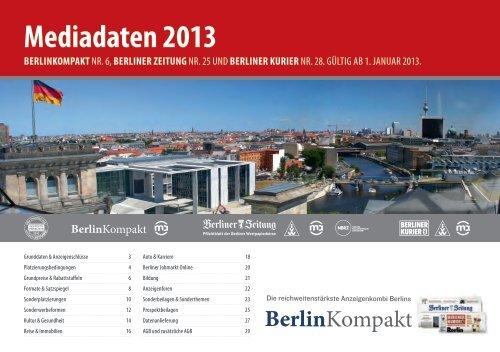 mediadaten 2013 - Berliner Zeitung