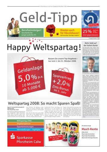 Happy Weltspartag! - Sparkasse Pforzheim Calw