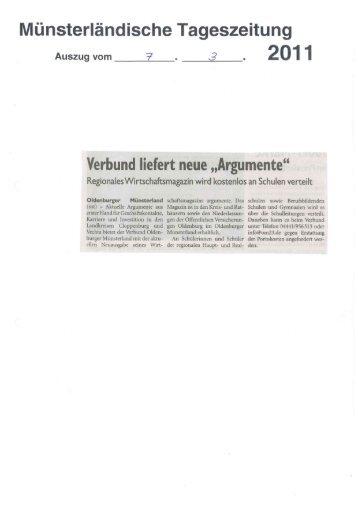 Wirtschaftsmagazin argumente 2011 - Verbund Oldenburger ...