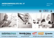 Mediadaten 2013 - Goslarsche Zeitung
