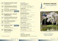 Kultur-Tagesfahrten - SÜDWEST PRESSE + Hapag-Lloyd Reisebüro