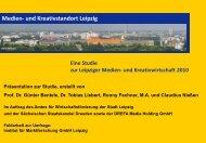 Medien- und Kreativstandort Leipzig - Stadt Leipzig