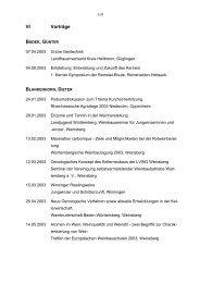 VI Vorträge - Baden-Württemberg
