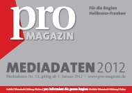 MEDIADATEN 2012 - Bürgerinitiative Pro Region e. V.