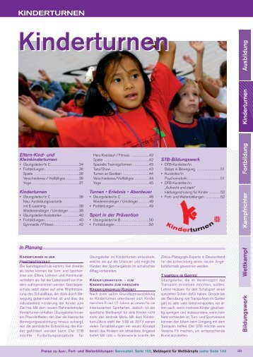 """Zum Jahresprogramm """"Kinderturnen"""" 2013"""