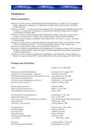 Liste der Publikationen und Medienauftritte (PDF*)