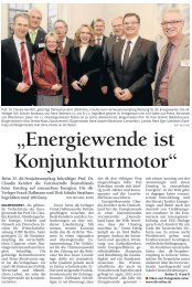 """Energiewende ist Konjunkturmotor"" - Claudia Kemfert"