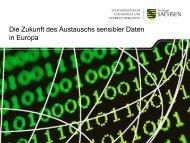 eHealth - Die Zukunft des Austauschs sensibler Daten in Europa