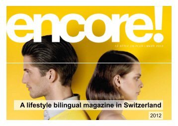 A lifestyle bilingual magazine in Switzerland - Publicitas