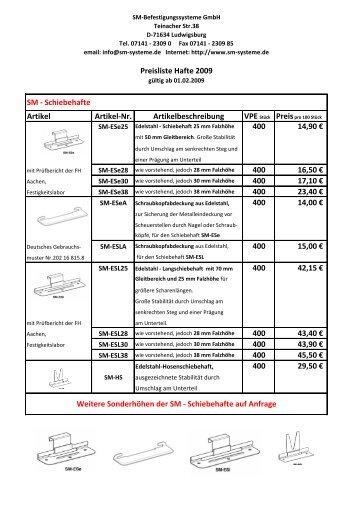 Edelstahl - sm systeme