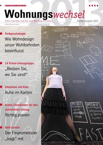 Wohnungswechsel Magazin, Sonderausgabe 2013 - Umzug