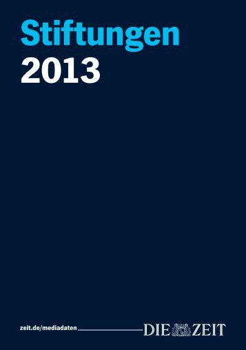 Folder 2013 - ZEIT Studienführer