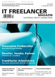 IT Freelancer Magazin Nr. 3/2005
