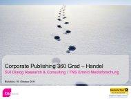 Corporate Publishing 360 Grad – Handel - TNS Emnid