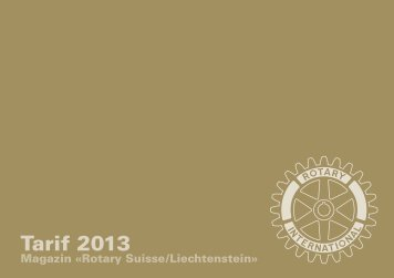 Download Inseratetarif 2013 (pdf) - Rotary Schweiz