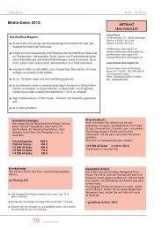 Media-Daten 2012: BenBiao Das Magazin