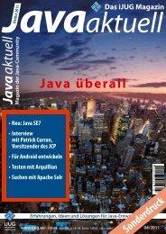 Artikel im Magazin Java aktuell, Herbst 2011 - Acando