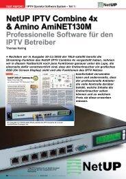 NetUP IPTV Combine 4x & Amino AmiNET130M - TELE-satellite ...