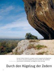 Durch den Hügelzug der Zedern im VCS-Magazin