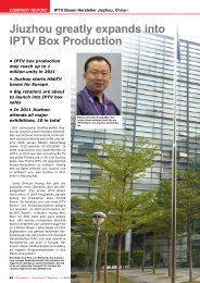 Jiuzhou greatly expands into IPTV Box Production - TELE-satellite