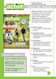 – mehr als wandern Warum active? - DoldeMedien Verlag GmbH
