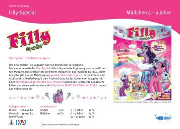 Mediadaten 2013 Filly-Special - Blue Ocean Entertainment AG
