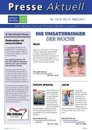 Presse Aktuell - Friesen Presse Vertrieb GmbH & Co.KG