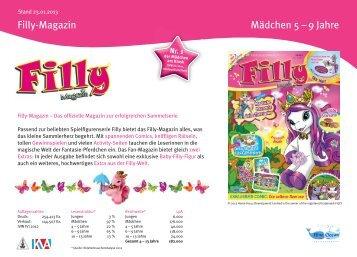 Mediadaten 2013 Filly-Magazin - Blue Ocean Entertainment AG