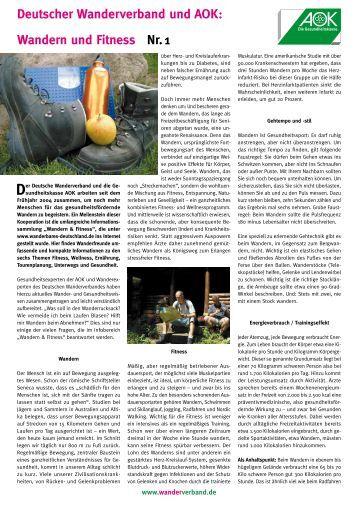 Wandern und Fitness Nr. - Schwarzwaldverein