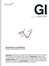 Emotionen und Märkte - Credit Suisse eMagazine - Deutschland
