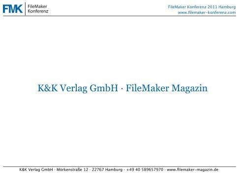 K&K Verlag GmbH - FileMaker-Konferenz