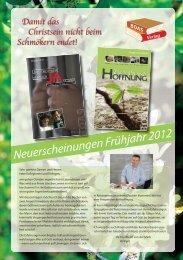 Neuerscheinungen Frühjahr 2012 (PDF, ca. 2,1 MB - BOAS-Verlag