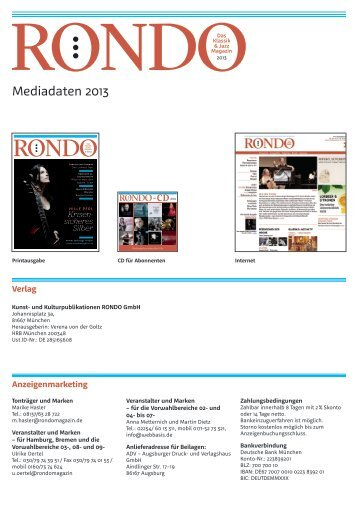 Download Mediadaten - Rondo