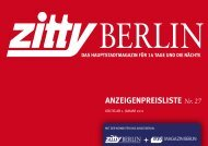 Mediadaten - Zitty Berlin