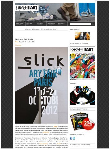 Slick Art Fair Paris - Graffiti Art Magazine - Galerie Charlot