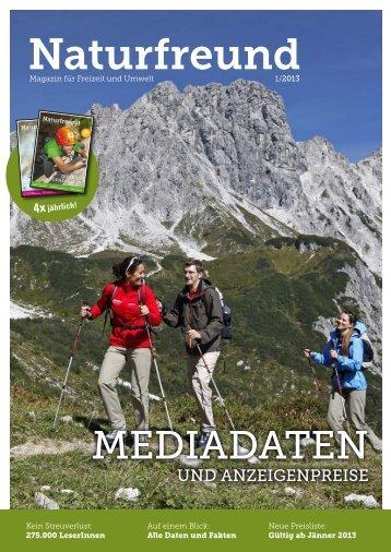Mediadaten & Anzeigenpreise 2013 zum Downloaden - Naturfreunde