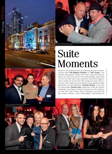 Suite Moments - TOP Magazin Frankfurt TOP Magazin Frankfurt