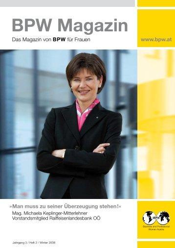 BPW Magazin Winter 2008 - Business & Professional Women Austria
