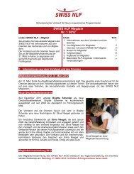 SWISS NLP Magazin Nr. 1 2012