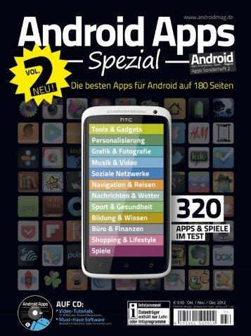 Android Apps Spezial Ausgabe 2 - Androidmag.de