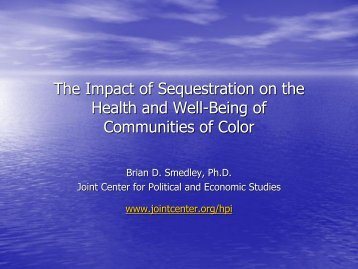 The Impact of Sequestration on the Health and Well-Being of Communities of Color